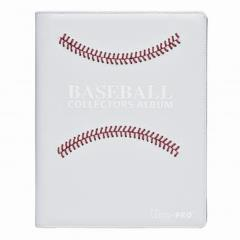Premium Pro-Binder - 9 Pocket Pages, White Stitched Baseball