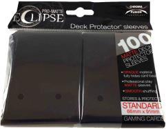 Pro-Matte Eclipse Card Sleeves - Jet Black (100)