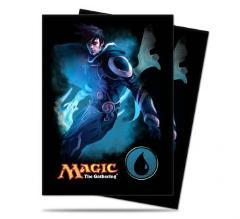 Card Sleeves - Planeswalker Jace, Mana #4 (80)