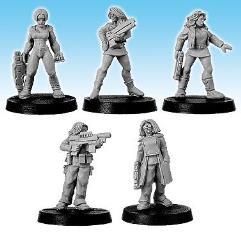 Militia Females w/Small Arms