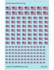 Water Slide Decals - Star Flag