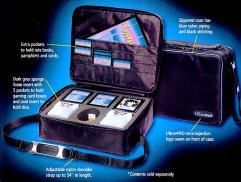 Portable Gaming Case - Black w/Blue
