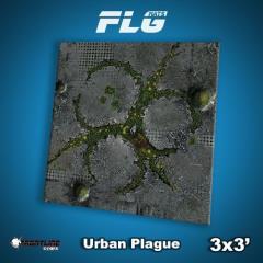 3' x 3' - Urban Plague