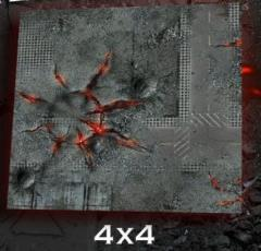 4' x 4' - Urban Skull