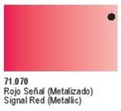 Metallic Signal Red