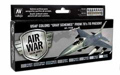 Air War - USAF Colors Gray Schemes From 70's To Present