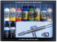 Airbrush Set - Basic Colors, 11 Piece Set