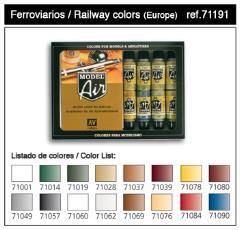 European Railway Colors Set
