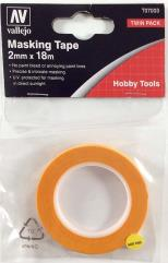 Precision Masking Tape 2mmx18m - Twin Pack