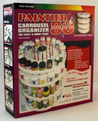Paintier 80 - Carrousel Organizer for Paints