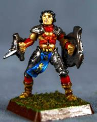 Neshal Friarbrook - Half-Elf Shield Fighter
