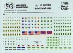 Decals - US Uniform Badges (1:35)