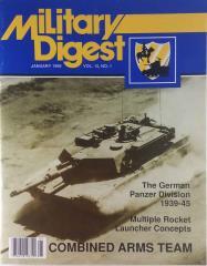 "Vol. 15, #1 ""Anti-Tank Guns, Multiple Rocket Launcher Tactics, The German Panzer Division"""