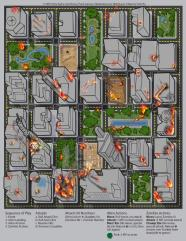 Aliens vs. Zombies - Mounted Map