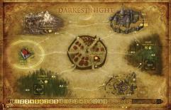 Darkest Night Mounted Map