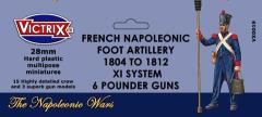 French Napoleonic Foot Artillery -  1804 to 1812, XI System w/6 Pounder Guns