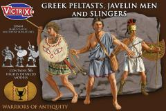 Ancient Greek Peltasts with Slingers - 450-300 BC