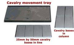 100mm x 50mm Cavalry Movement Trays
