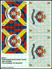 Flag Sheet - Portuguese Infantry 11th Regiment of Infantry