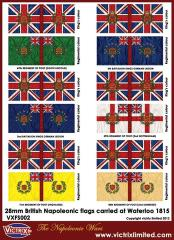 Flag Sheet - British Napoleonic Flags Carried at Waterloo 1815 #1