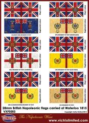 Flag Sheet - British Napoleonic Flags Carried at Waterloo 1815 #2
