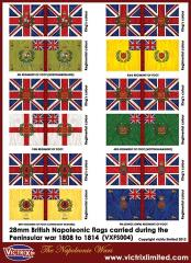Flag Sheet - Peninsular War British Flags 1808-1814 #1