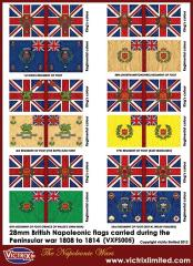 Flag Sheet - Peninsular War British Flags 1808-1814 #2
