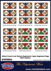 Flag Sheet - French and Italian Ligne Regiment 1804