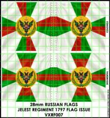 Flag Sheet - Jelest Regiment 1797 Flag Issue