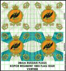Flag Sheet - Kopor Regiment 1803 Flag Issue