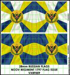 Flag Sheet - Nizov Regiment 1797 Flag Issue