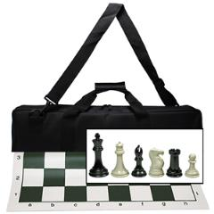 Tournament Chess Set w/Black Canvas Bag