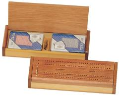 Double Cribbage Card Box