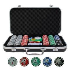Complete Poker Set in Aluminum Case