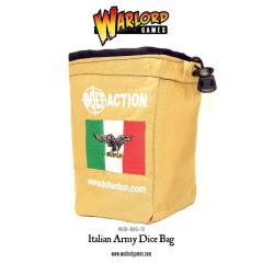 Bolt Action Italian Army Dice Bag & Order Dice - Grey w/Red (12)