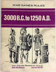 War Games Rules 3000 BC to 1250 AD (5th Edition, 2nd Printing)