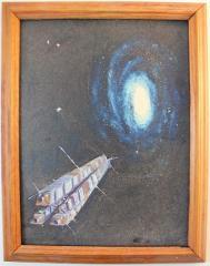 Galaxy & Starship I (Framed)