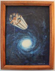 Galaxy & Starship II (Framed)