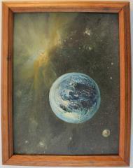 Planet & Nebula (Framed)