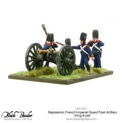 French Imperial Guard Foot Artillery Firing 6-PDR