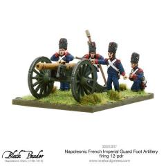 French Imperial Guard Foot Artillery Firing 12-Pdr.