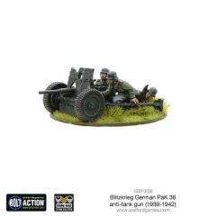 Blitzkrieg German Pak 36 Ant-Tank Gun