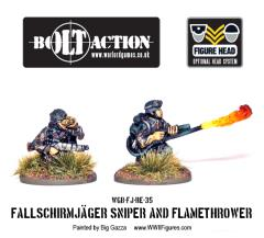 Fallschirmjager Flamethrower & Sniper