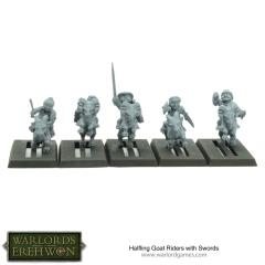 Halfling Goat Riders w/Swords
