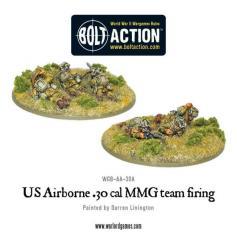 Airborne - 30 cal MMG Team - Firing