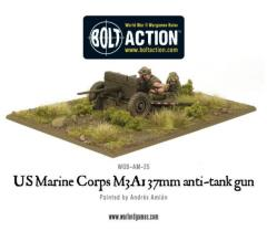 US Marine M3A1 37mm Anti-Tank Gun