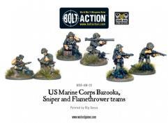 US Marine Bazooka, Sniper & Flamethrower Teams