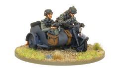 Blitzkrieg German Kradschutzen w/Sidecar