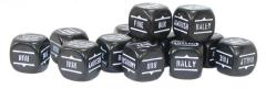 Bolt Action Orders Dice - Black (12) (Rounded Corners)