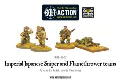 Imperial Japanese Sniper & Flamethrower Teams